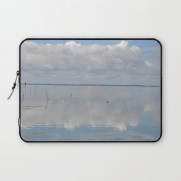 Picture Perfect Blue Sky Water Bay Scene Landscape  Laptop Sleeve