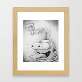 Gimme-Gimme Robot Framed Art Print