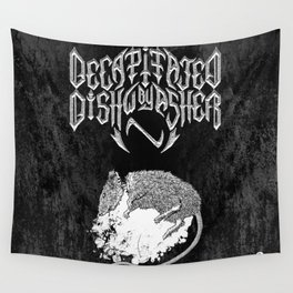 Decapitated by dishwasher II (black) Wall Tapestry