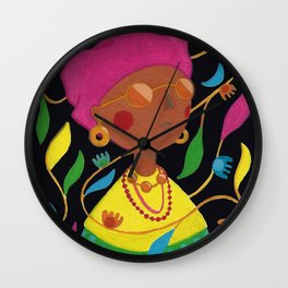 Gouache Woman Wall Clock