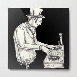 Steampunk DJ Metal Print