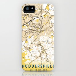 Huddersfield Yellow City Map iPhone Case