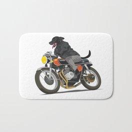 Labrador Riding Motorcycle Bath Mat
