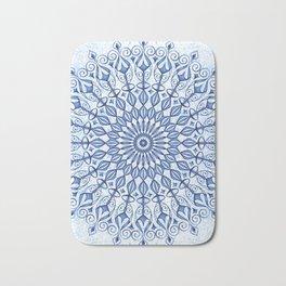 Mandala in  blue Bath Mat
