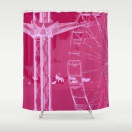 Carnival Rides - Pink Hues Shower Curtain