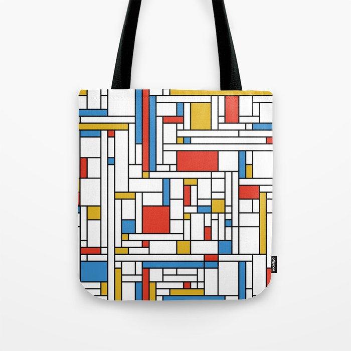 Mondrian meets Fibonacci Tote Bag
