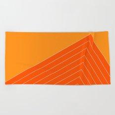 Orange Crush Range Beach Towel