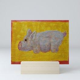 Pink Pig Mini Art Print