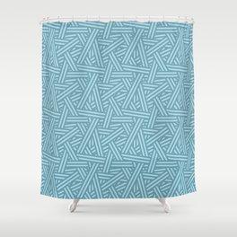 Interweaving lines aqua Shower Curtain