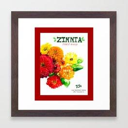 Zinnia Framed Art Print