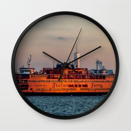 Ferry & The Freedom Tower Wall Clock