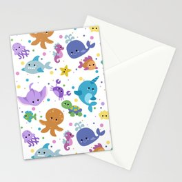 Ocean Cuties Stationery Cards