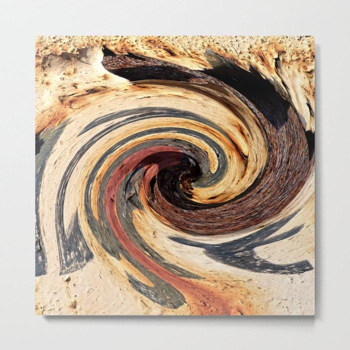 Swirl 07 - Colors of Rust / RostArt Metal Print