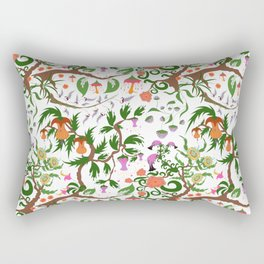 Fairy floral seamless pattern with unusual plants, trees and flowers Rectangular Pillow