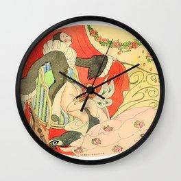Gerda Wegener - Erotic scene - Digital Remastered Edition Wall Clock