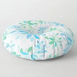 Nature's Healing Mandala Blue Floor Pillow