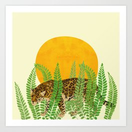 A creeping leopard Art Print
