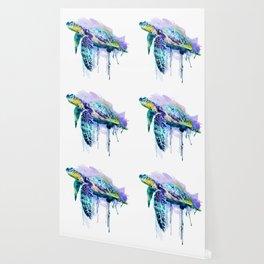 Watercolor Sea Turtle Wallpaper