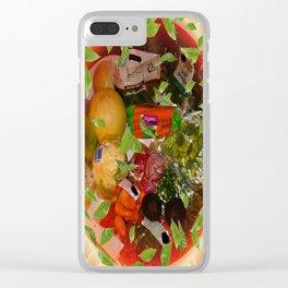 veggies Clear iPhone Case