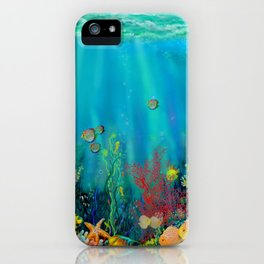 Undersea Art With Coral iPhone Case
