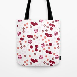 Candy lollipops of cherry Tote Bag