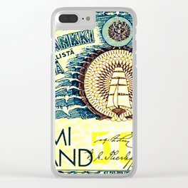 Banknote 1 Clear iPhone Case