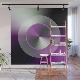 Serene Simple Hub Cap in Purple Wall Mural