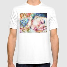 Golden Dreams White MEDIUM Mens Fitted Tee