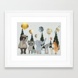 the solar parade Framed Art Print