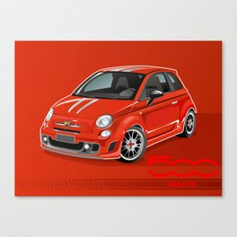 FIAT Abarth 500 Canvas Print