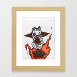 Mutant Clown Framed Art Print