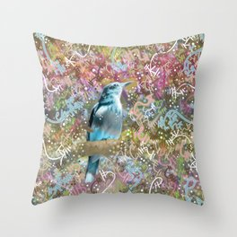 Little Scrub Jay Throw Pillow