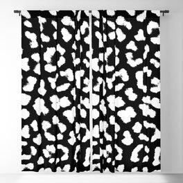 Monochrome cheetah pattern Blackout Curtain