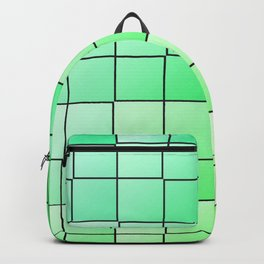 Green squares gradient pattern Backpack