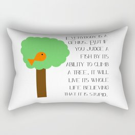 Everybody is a genius - Albert Einstein Rectangular Pillow