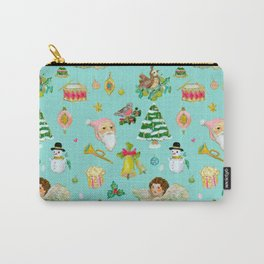 A Vintage Christmas Carry-All Pouch