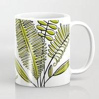 study Mugs featuring Fern Study by Heather Dutton