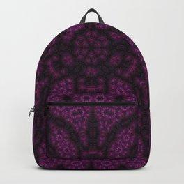Black & Purple Lacy Flower Backpack
