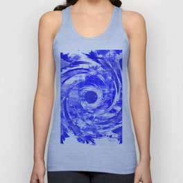 Sketch #3 - White/Blue Unisex Tank Top