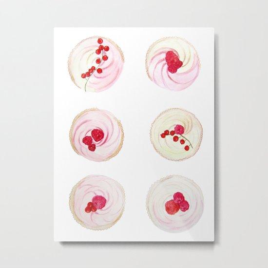 Berries Cupcakes Metal Print