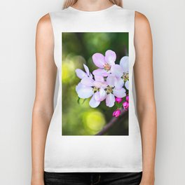 Beautiful Crab Apple Flowers Biker Tank