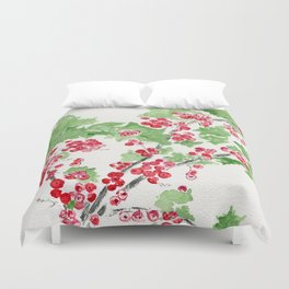 Currant Events Duvet Cover
