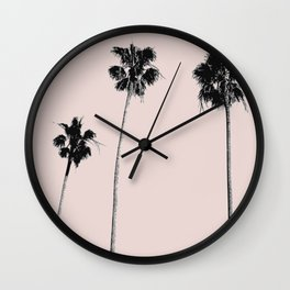 Summer palm three Wall Clock