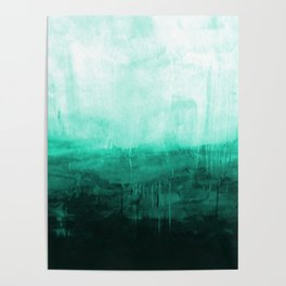 Paint 8 abstract minimal modern water ocean wave painting must have canvas affordable fine art Poster
