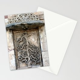 Carved Tree of life, Gujarat, India Stationery Cards