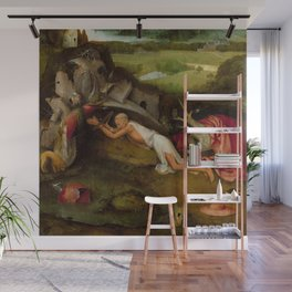 "Hieronymus Bosch ""Saint Jerome at prayer"" Wall Mural"