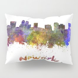 Newark skyline in watercolor Pillow Sham
