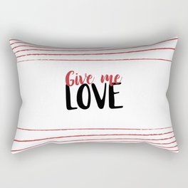 Give Me Love Doodle Lines Rectangular Pillow