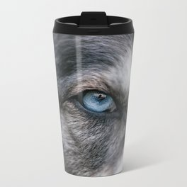 Window To The Soul Metal Travel Mug