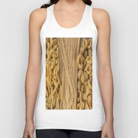 pasta Tank Tops featuring Different kind of pasta by Joseagon